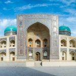 Photo travel itinerary: a two week Uzbekistan itinerary - Mir-i Arab Madrassah panorama - Lost With Purpose