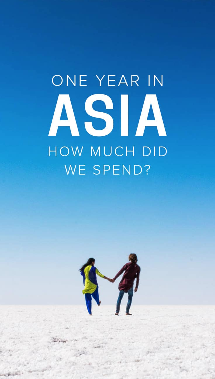 Curious to know how much one year of travel in Asia costs? Here's how much we spent in 12 months of backpacking through 10 countries in Eurasia, complete with a country-by-country breakdown, average costs, and tips on how you can travel for a year for even less than we did.