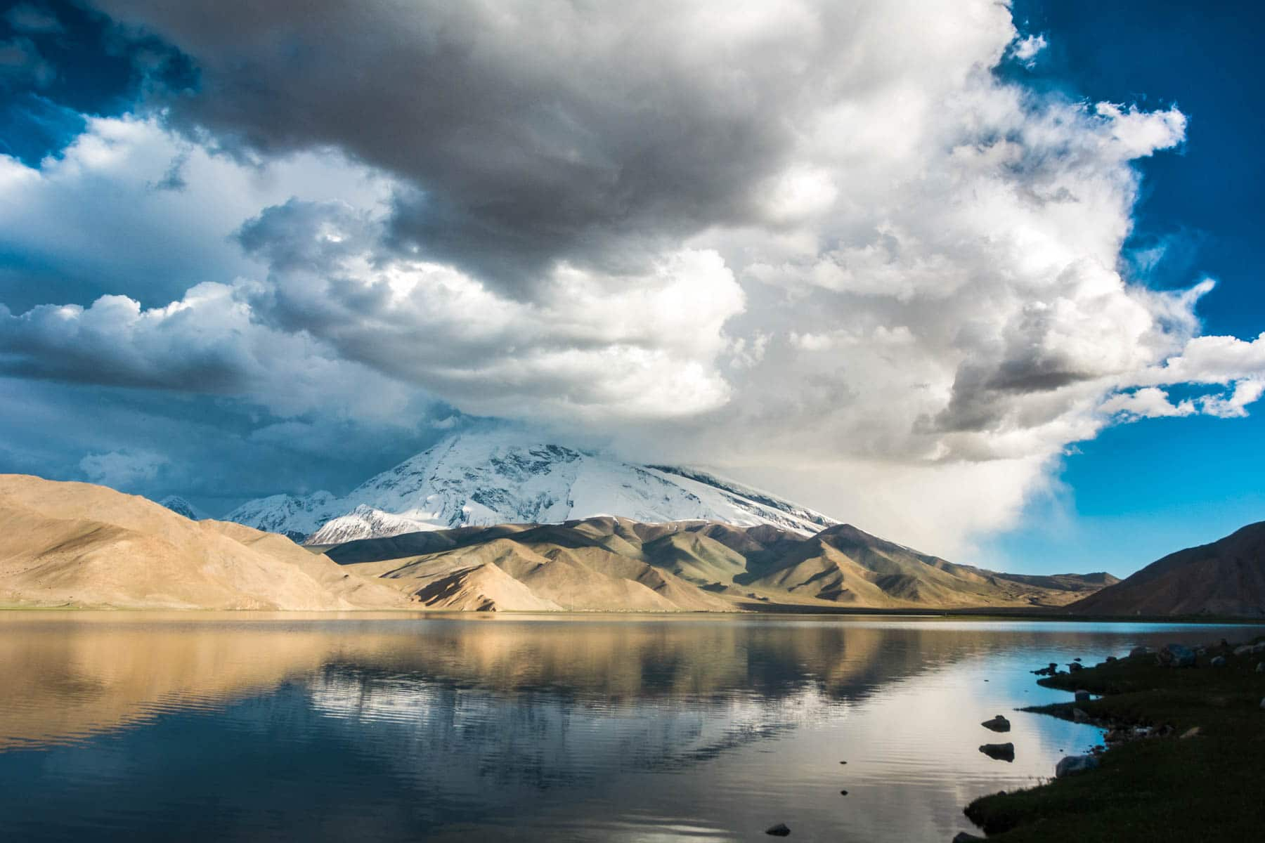 Karakul lake in Xinjiang province, China