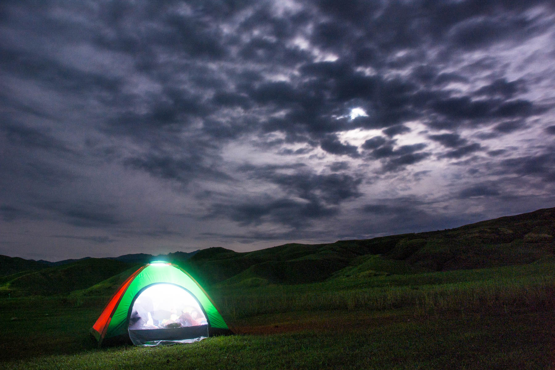 How much does one year of travel in Asia cost? - Pitching a tent to save money in Kazakhstan - Lost With Purpose