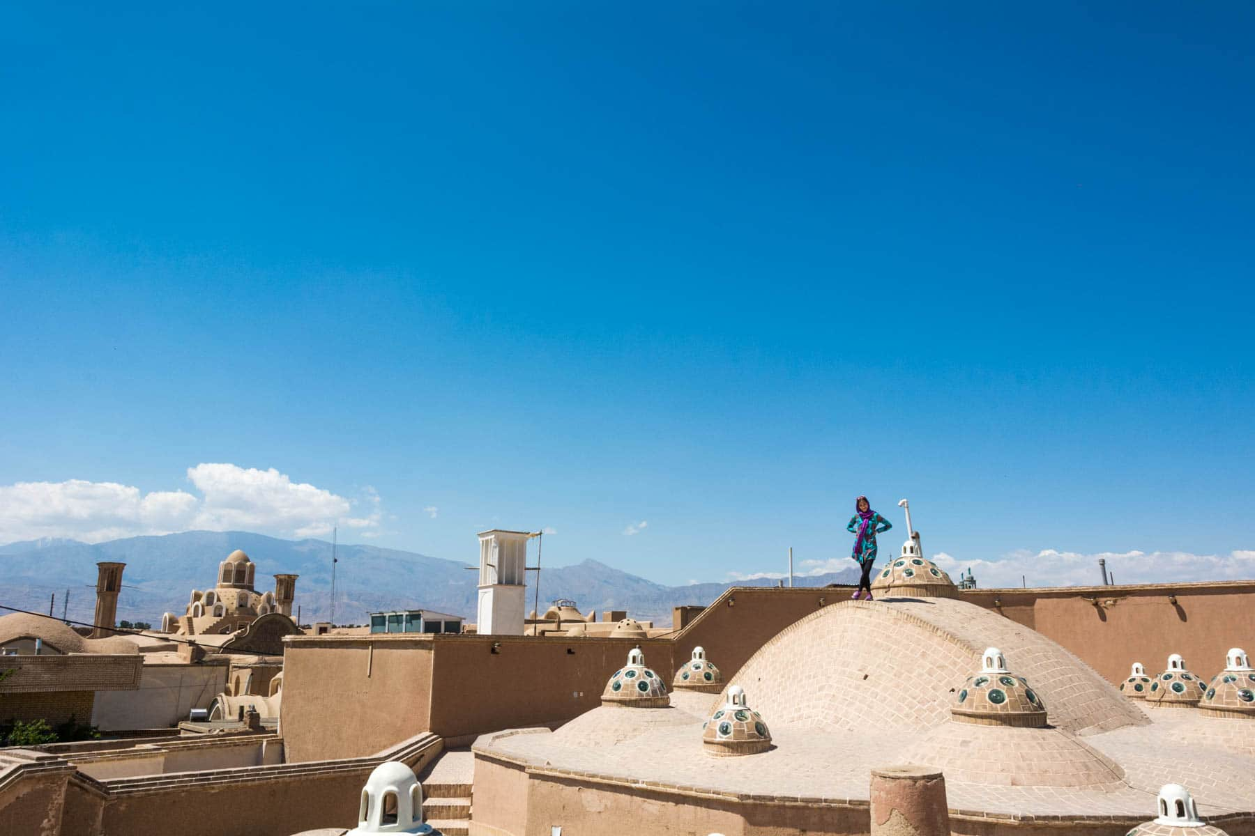 How much does a year of travel in Asia cost - The rooftops of Kashan, Iran - Lost With Purpose