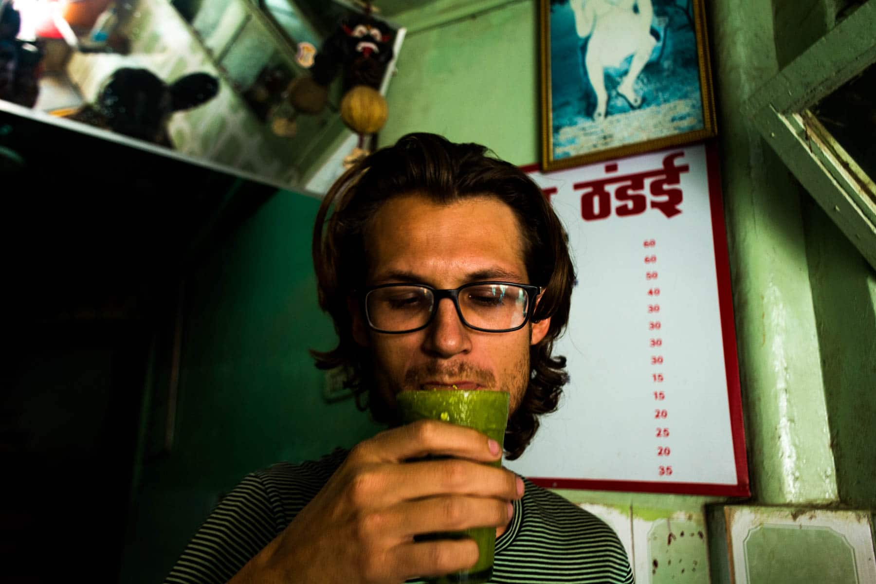 Where to find bhang lassi in Varanasi, India - Drinking bhang lassi - Lost With Purpose