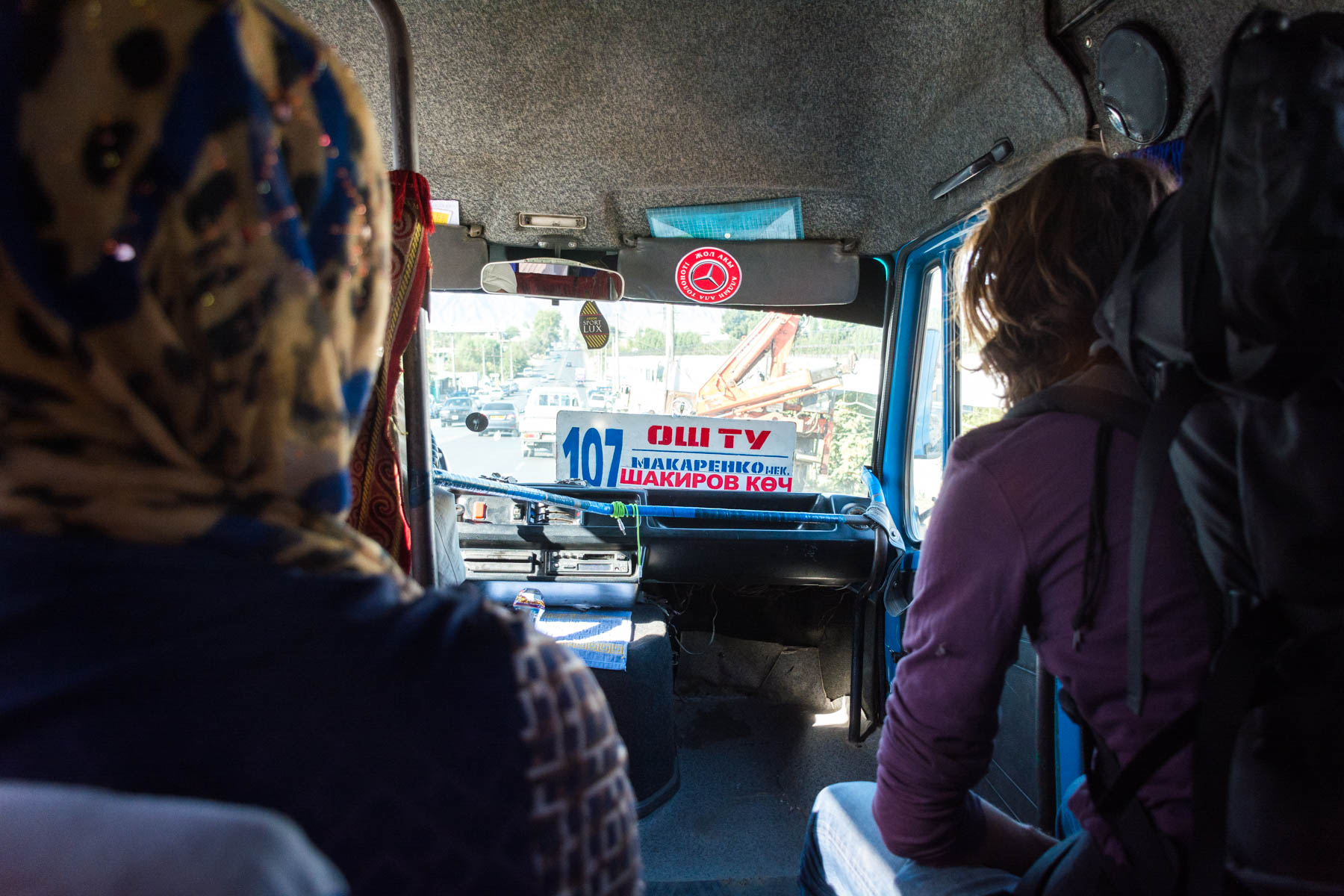 How much does one year of travel in Asia cost? - Riding in a marshrutka in Osh, Kyrgyzstan - Lost With Purpose