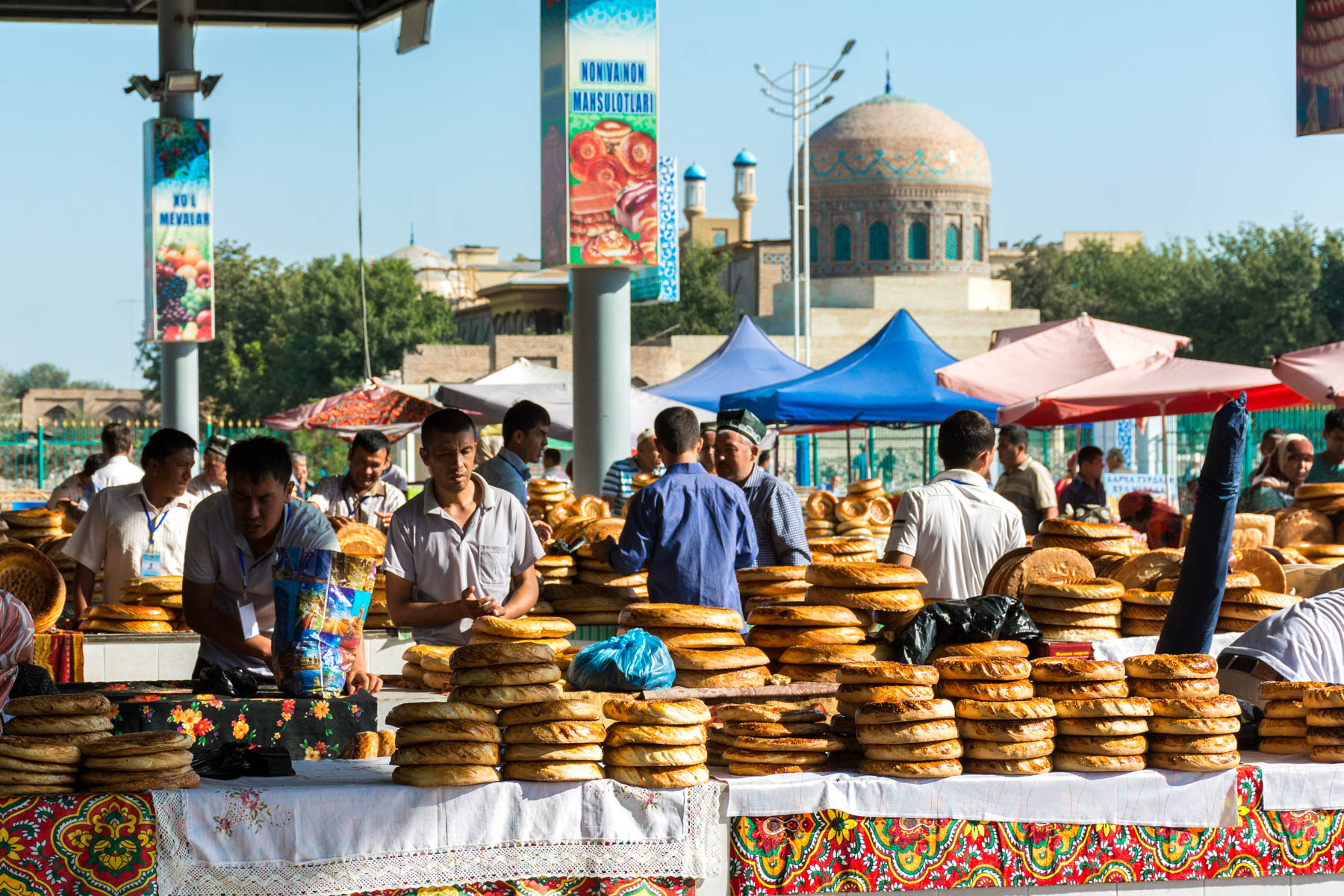 Bread for sale in Andijan, Uzbekistan