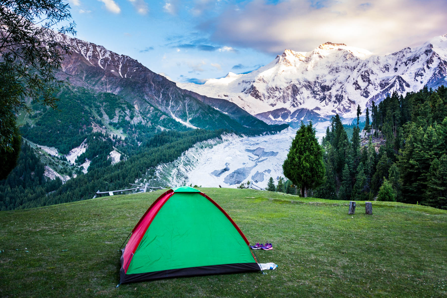 How much does a year of travel in Asia cost? - Camping for free with our tent in Fairy Meadows, Pakistan - Lost With Purpose