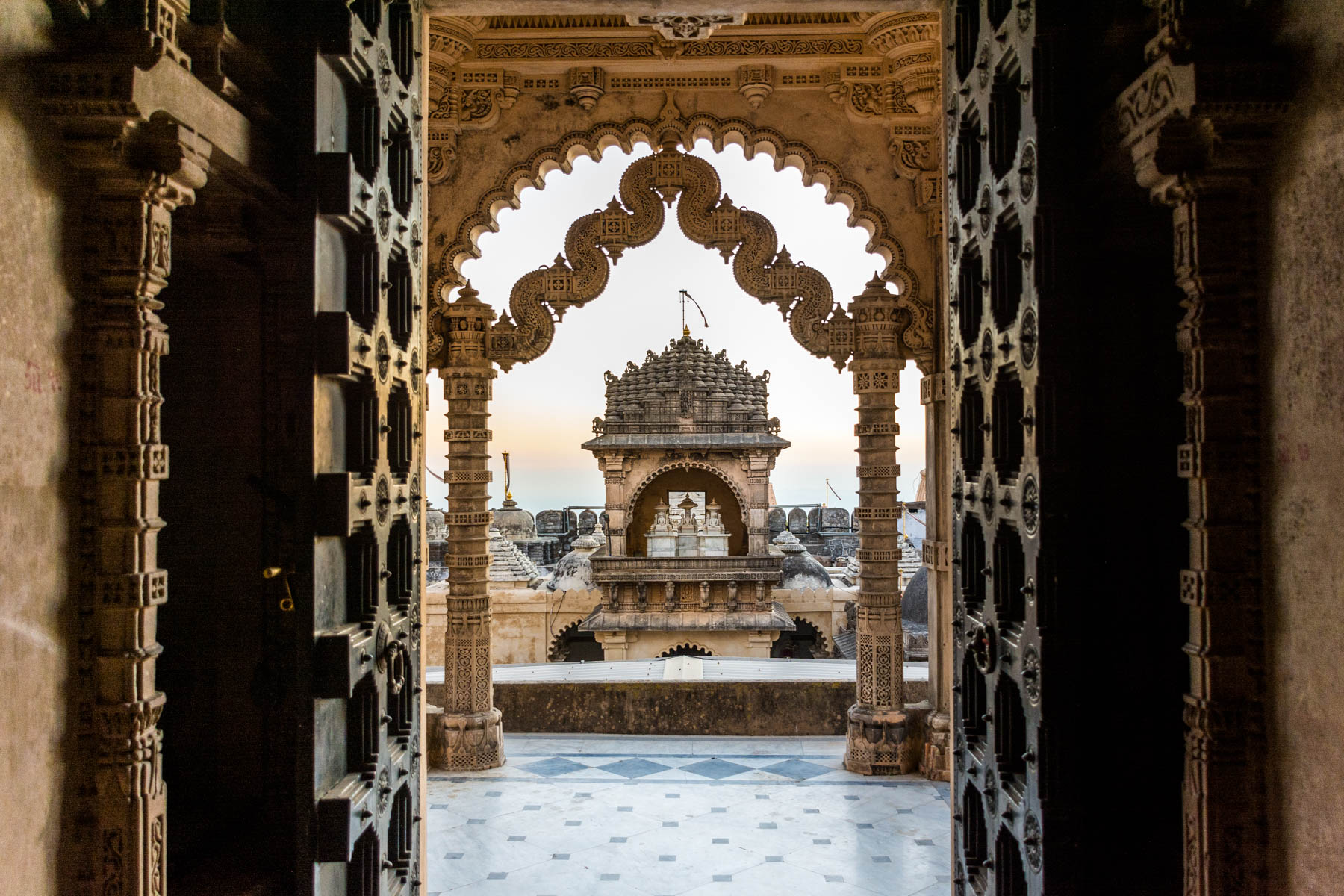 Jain pilgrimage in Palitana, India - Adinath temple doors - Lost With Purpose