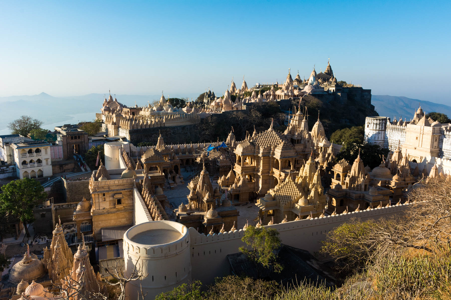 Jain pilgrimage in Palitana, Gujarat, India - Palitana temples from above - Lost With Purpose
