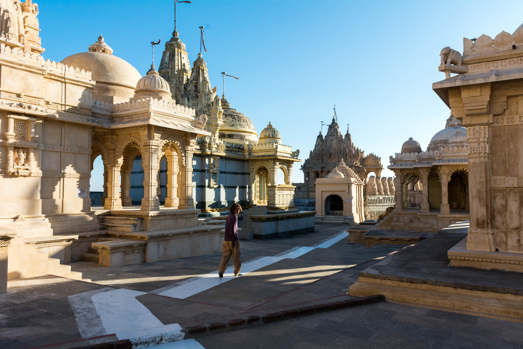 Sunrise at the temples during a Jain pilgrimage in Palitana, India - Lost With Purpose