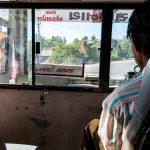 How to get from Palitana to Diu by bus - A bus near Palitana, Gujarat state, India - Lost With Purpose