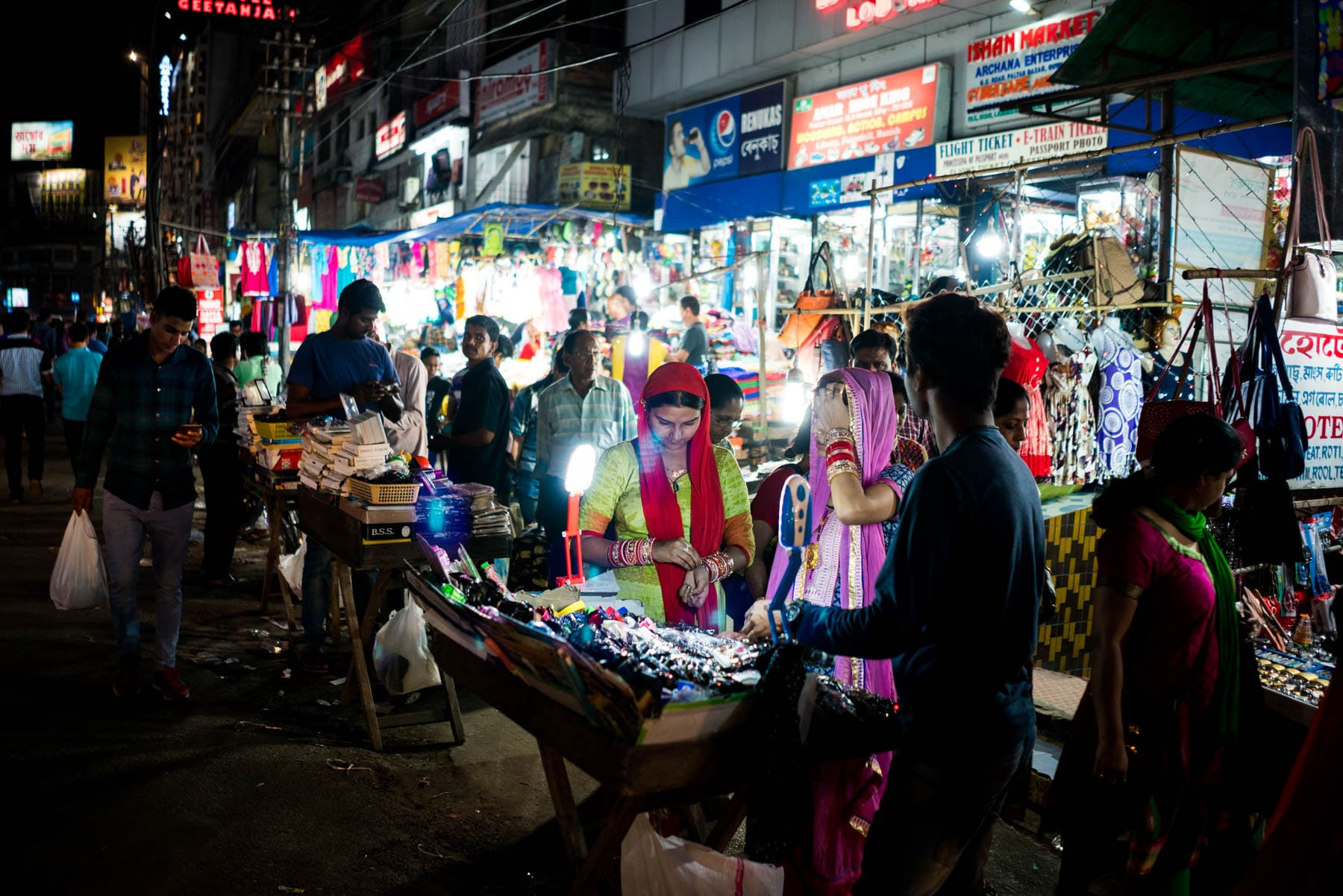 How to apply for an Arunachal Pradesh Protected Area Permit in Guwahati, Assam, India - Night market in Guwahati - Lost With Purpose