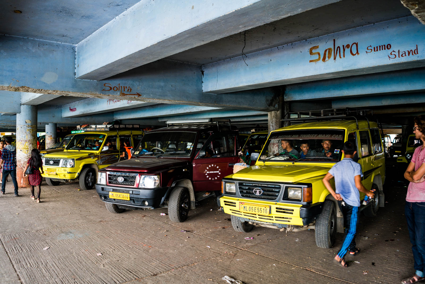 How to get from Guwahati to Shillong and Cherrapunjee in Meghalaya, India - The Sumo stand in Shillong for rides to Sohra, AKA Cherrapunjee - Lost With Purpose