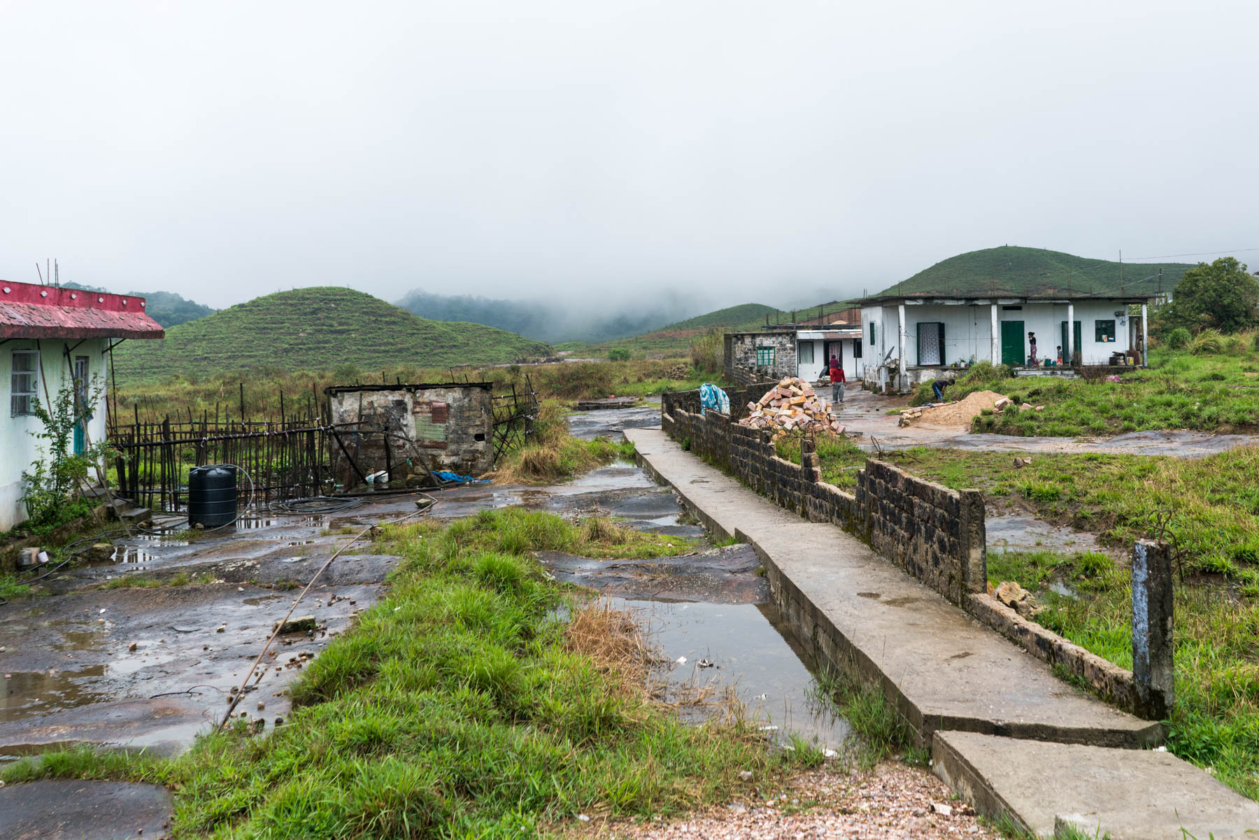 A path and some houses in Cherrapunjee