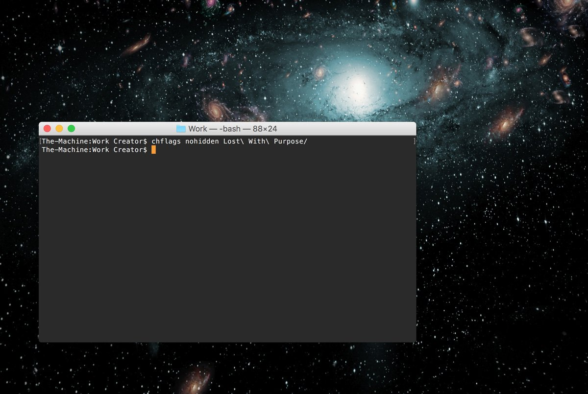 How to hide computer files for border crossings on a Mac - Showing (nohidden) files in the Terminal - Lost With Purpose