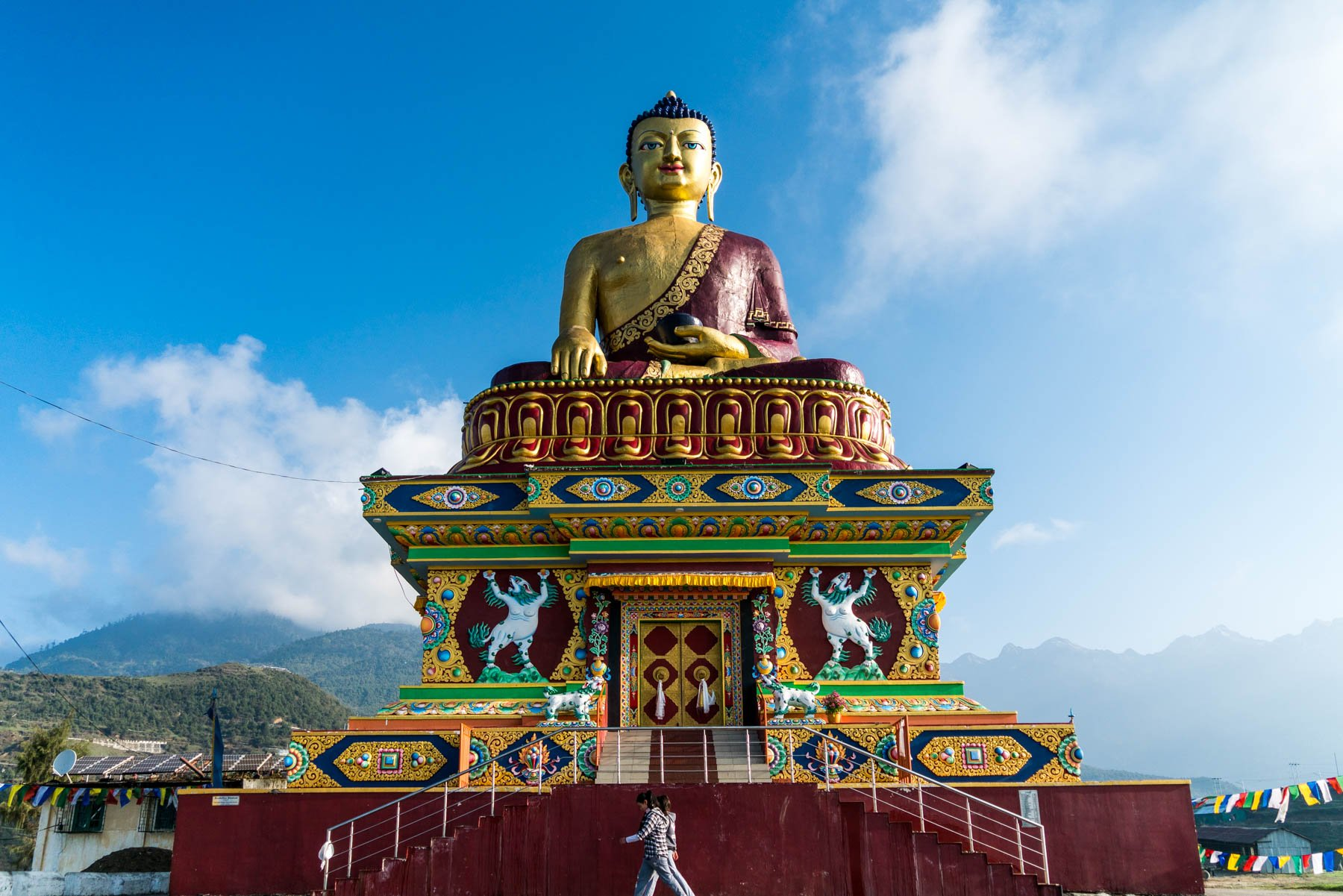 Backpacking Arunachal Pradesh travel guide - The big golden buddha in Tawang - Lost With Purpose