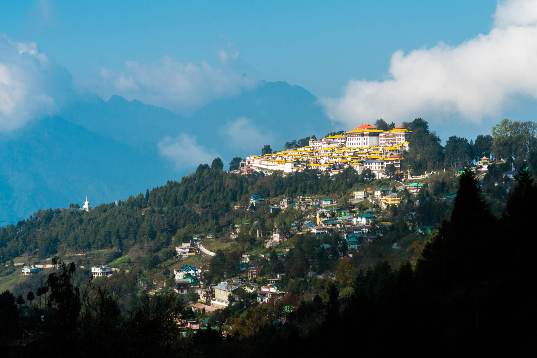 Backpacking Arunachal Pradesh travel guide - Tawang Monastery on a sunny day - Lost With Purpose