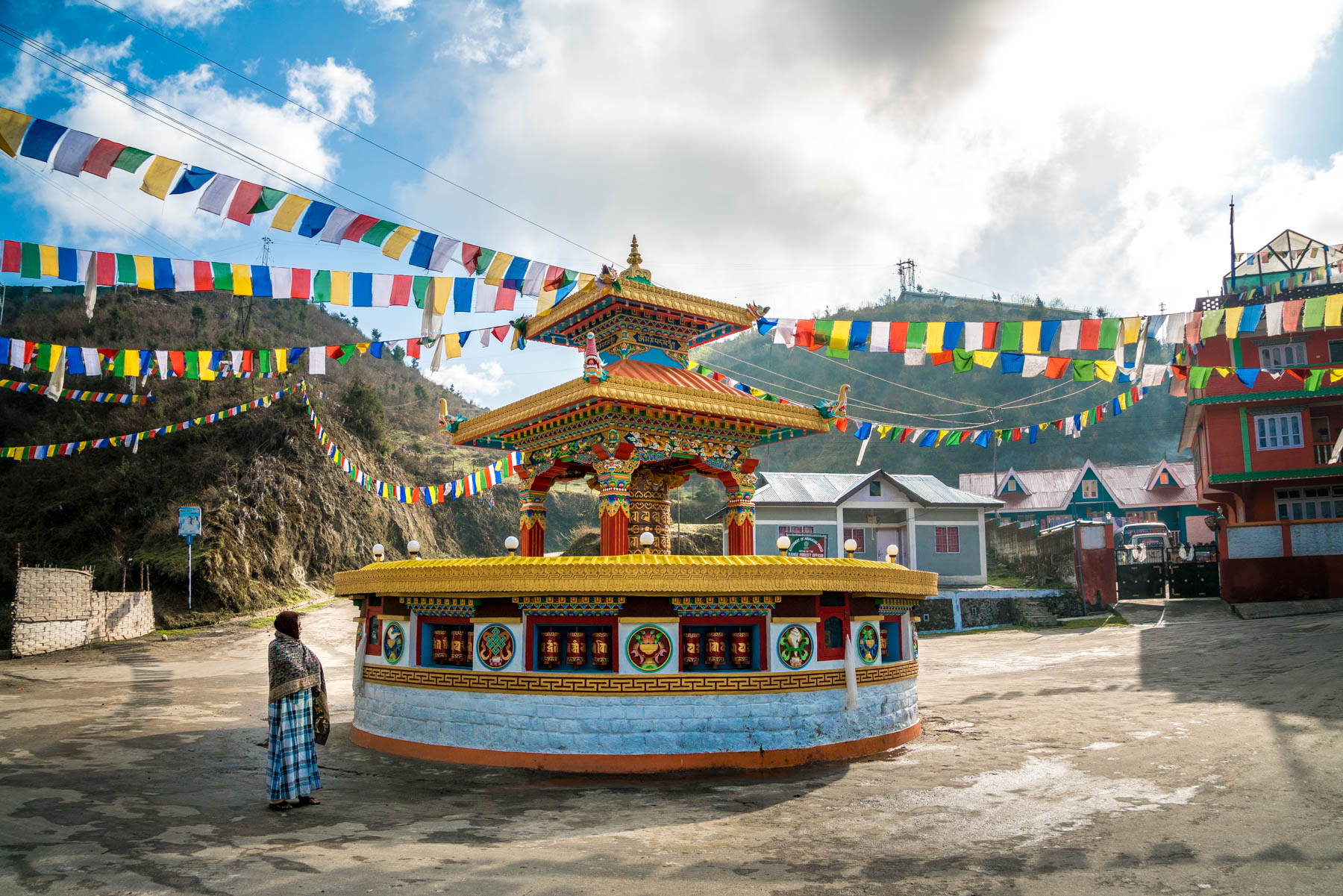 Backpacking Arunachal Pradesh travel guide - A Buddhist tibetan prayer wheel in Tawang - Lost With Purpose