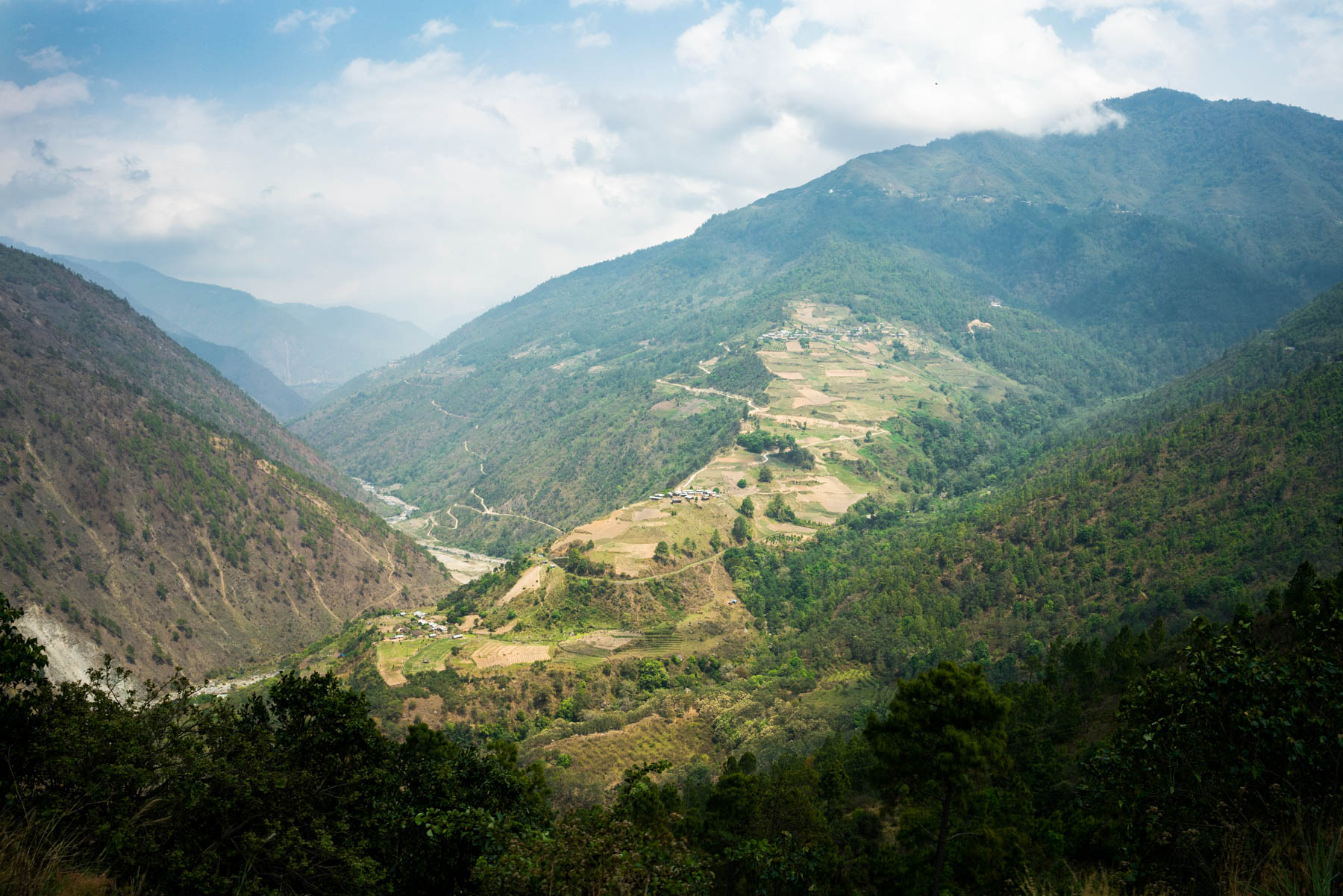Backpacking Arunachal Pradesh travel guide - Scenic landscape on the way to Bomdila - Lost With Purpose