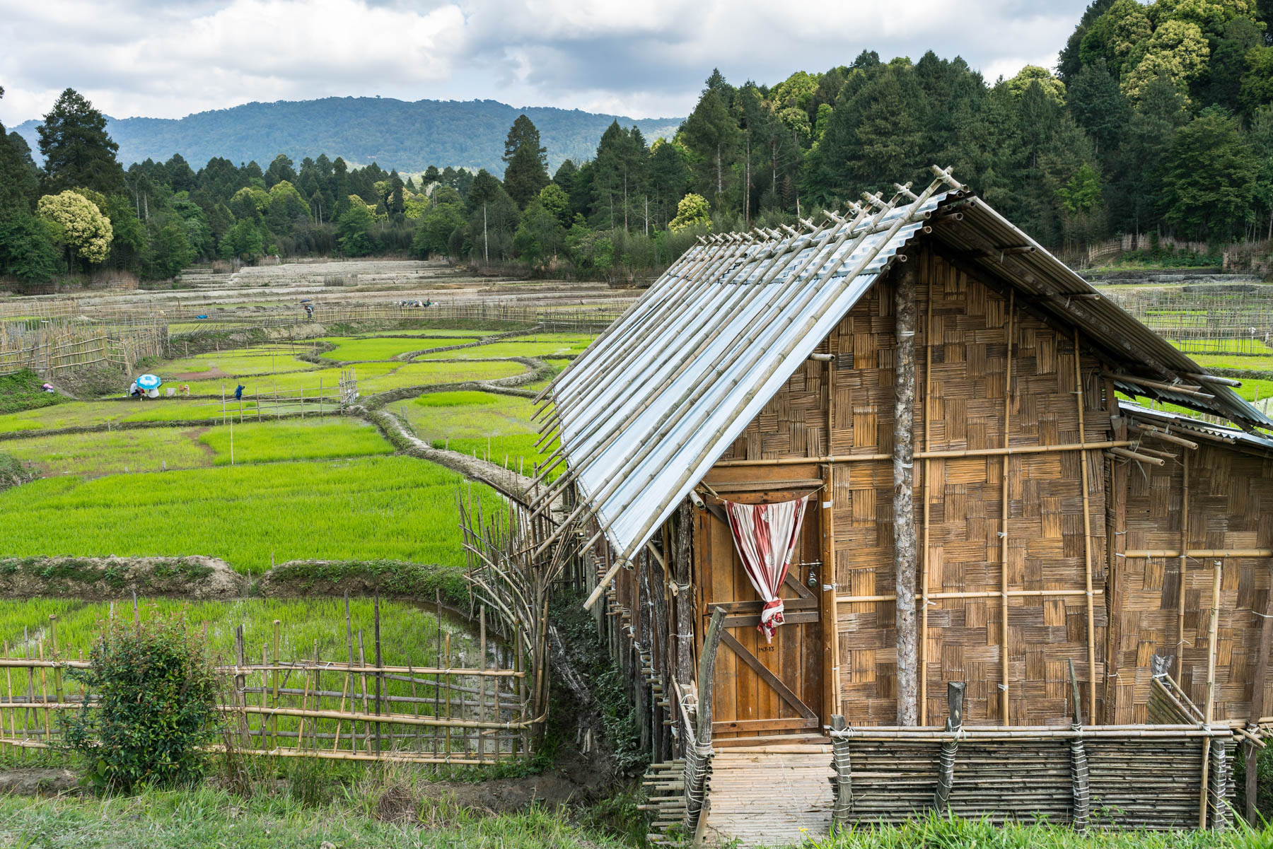 Backpacking Arunachal Pradesh travel guide - A traditional bamboo house in Ziro Valley - Lost With Purpose