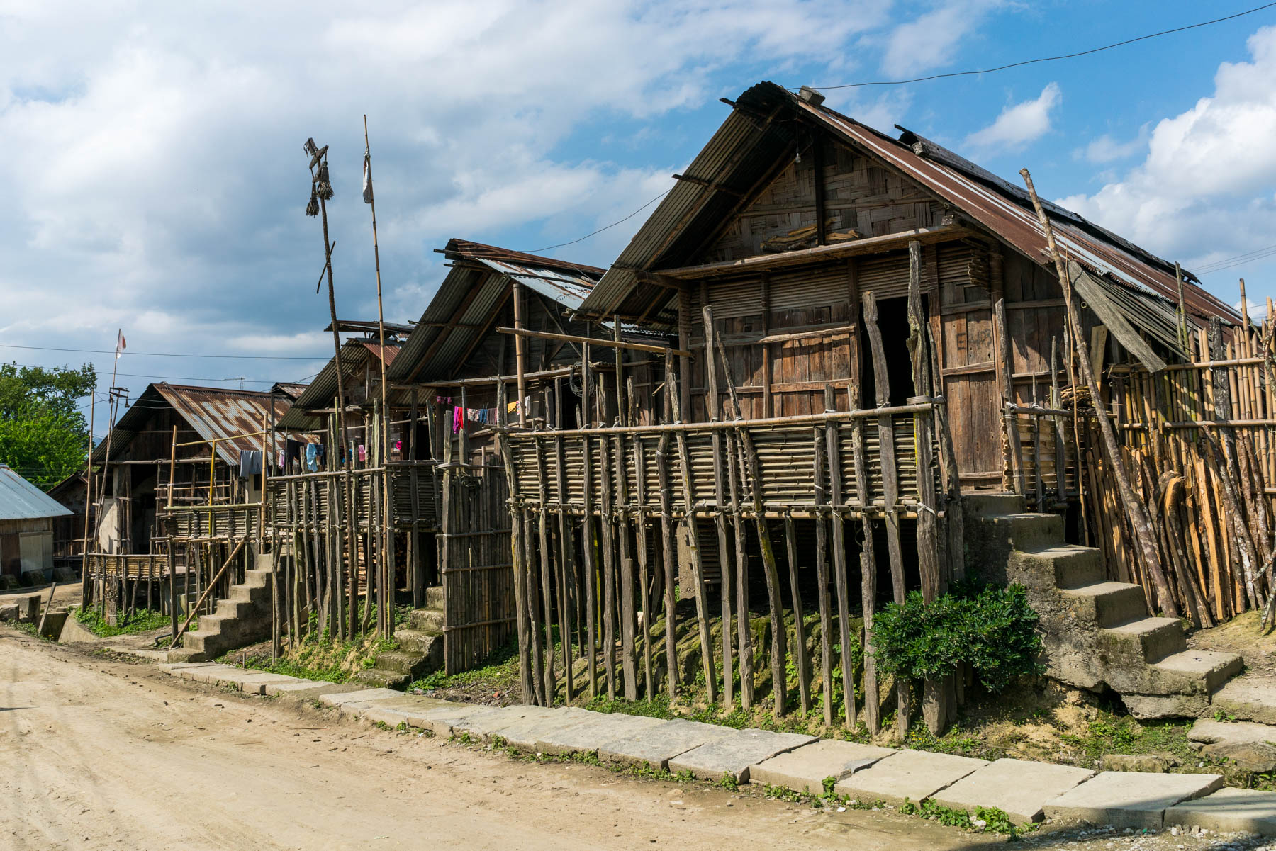 Backpacking in Arunachal Pradesh travel guide - Tribal houses in Ziro Valley - Lost With Purpose