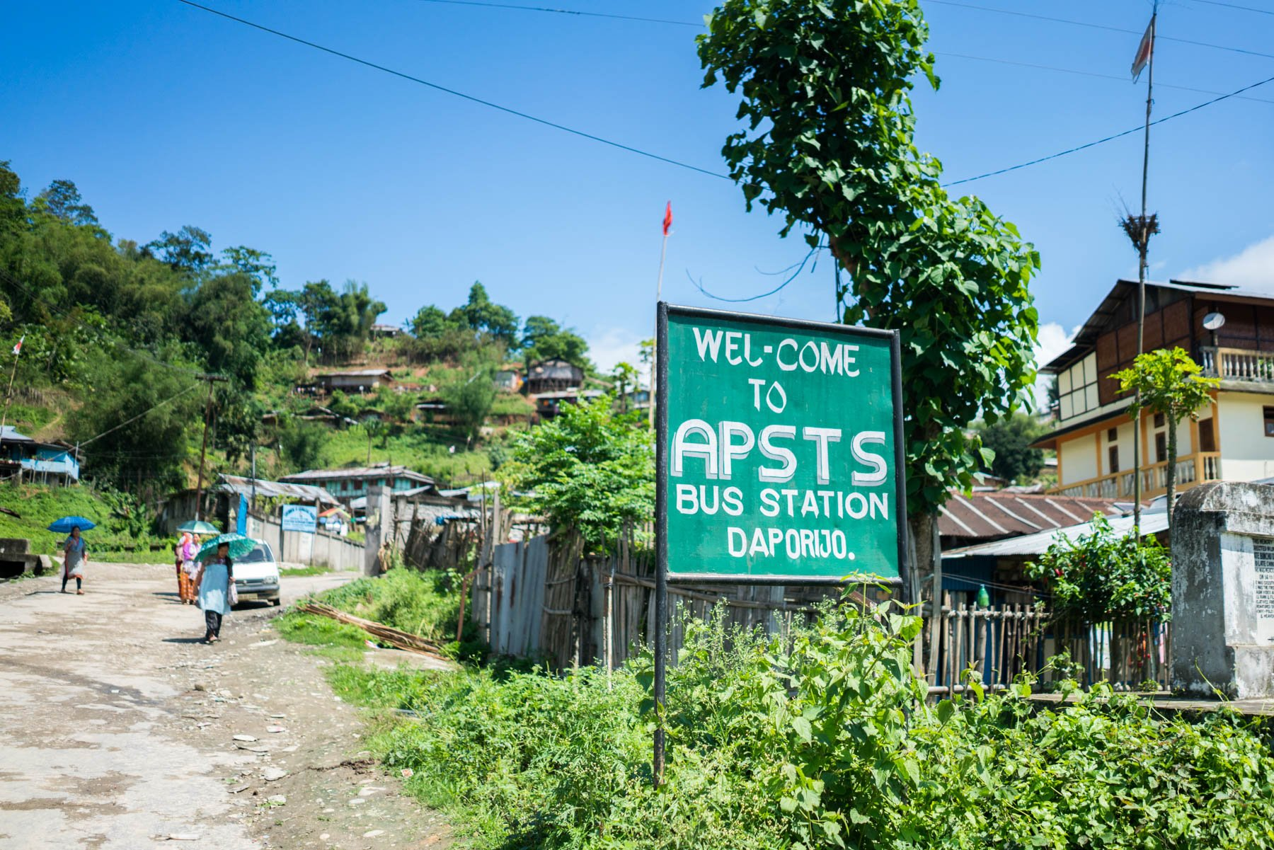 Backpacking in Arunachal Pradesh travel guide - APST bus stand in Daporijo - Lost With Purpose