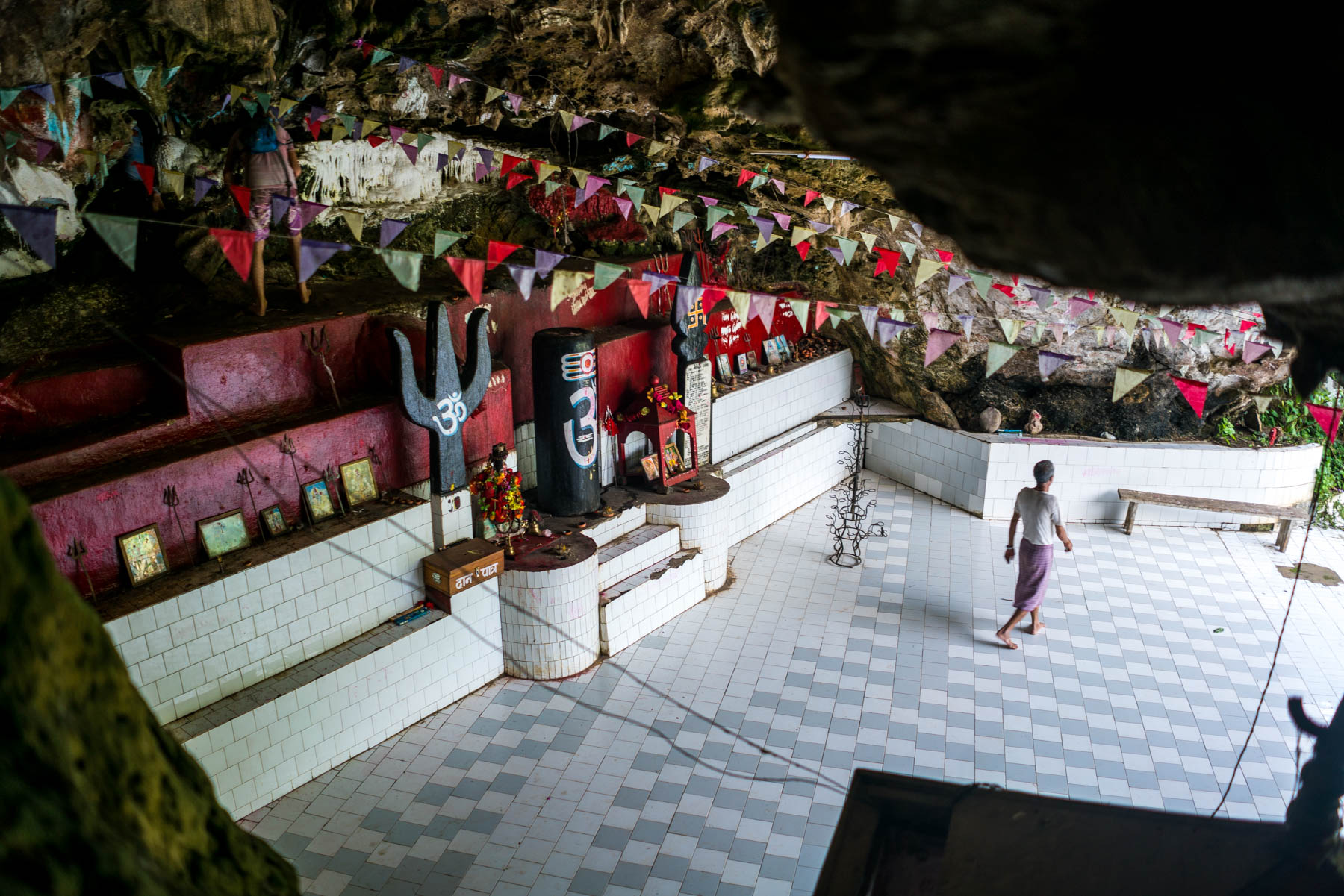 Backpacking in Arunachal Pradesh travel guide - the interior of Mengha cave temple in Daporijo - Lost With Purpose