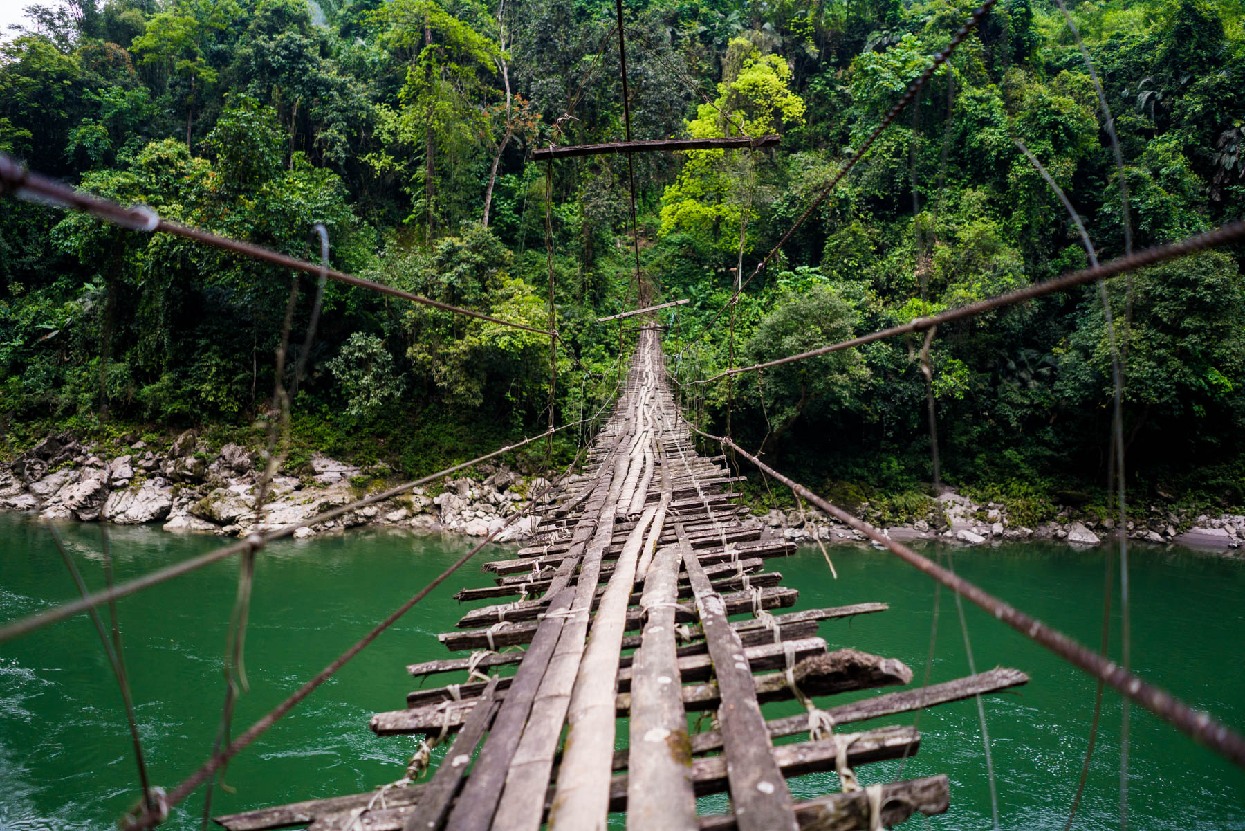 Backpacking Arunachal Pradesh travel guide - Hanging bridge near Daporijo - Lost With Purpose