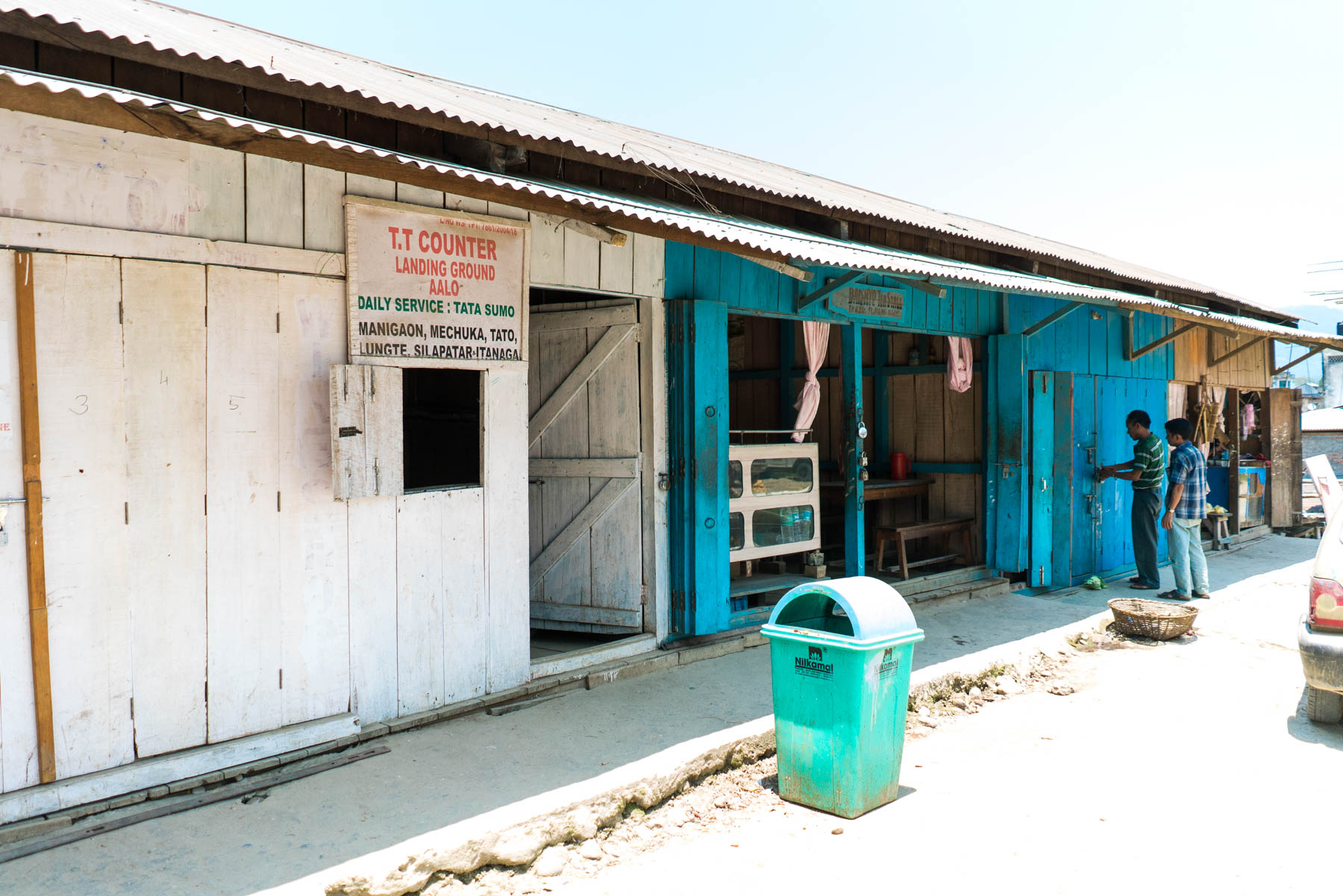 Backpacker guide to Arunachal Pradesh, India - Sumo ticketing stand in market area of Along (Aalo) - Lost With Purpose