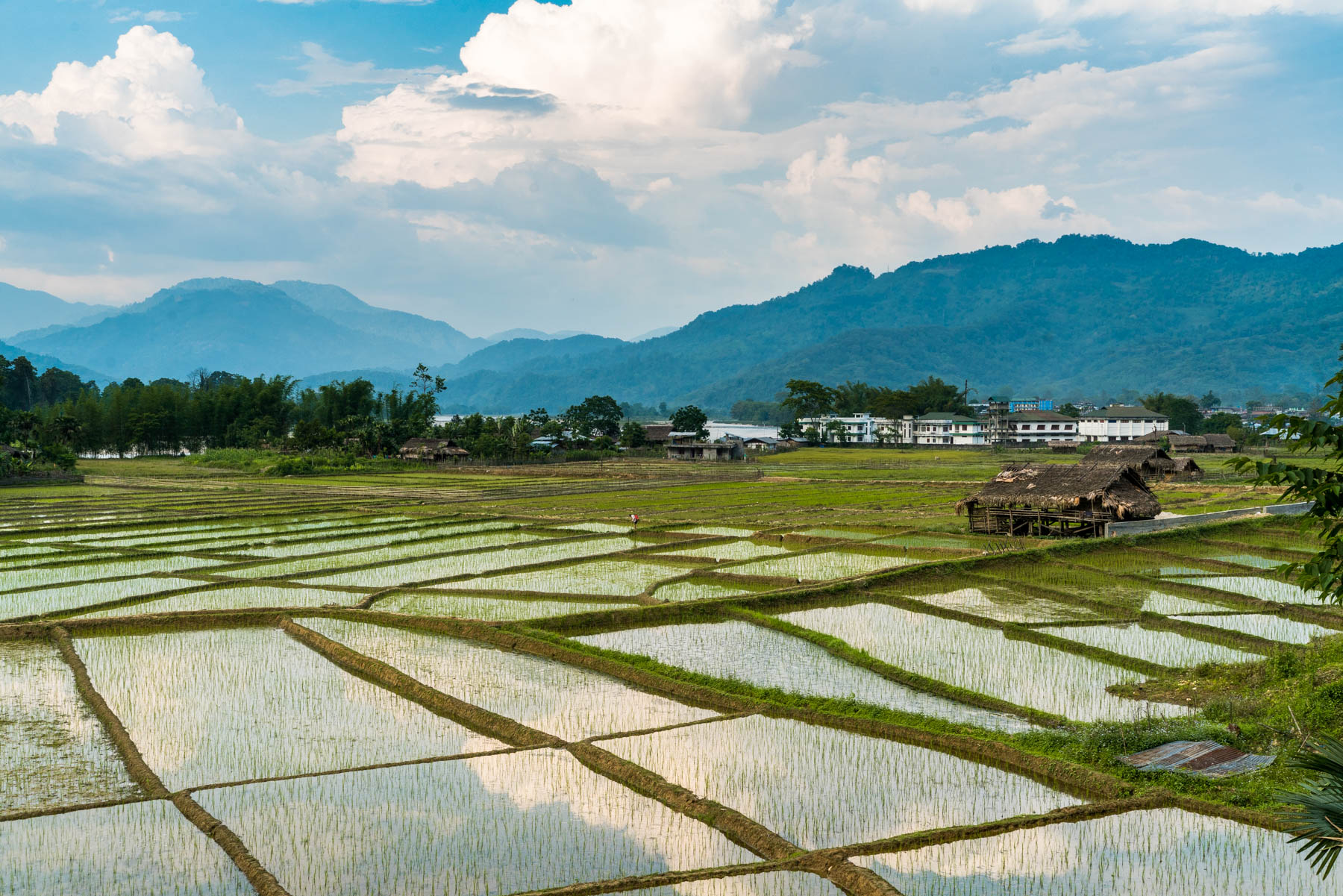 A backpacker guide to Arunachal Pradesh, India - Sunset over the rice fields of Along - Lost With Purpose