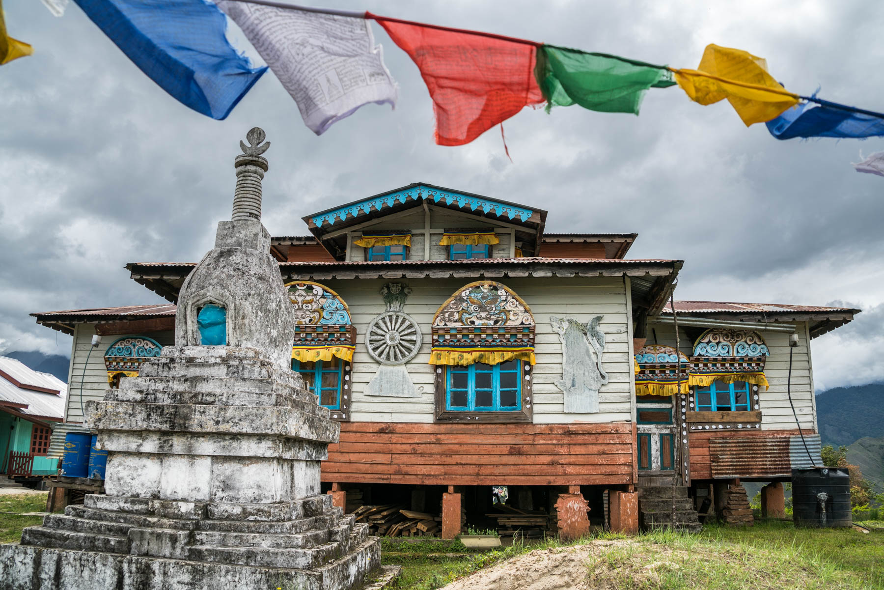 Backpacking in Arunachal Pradesh travel guide - Homestay hosts in Mechuka - Old Gompa in Mechuka - Lost With Purpose