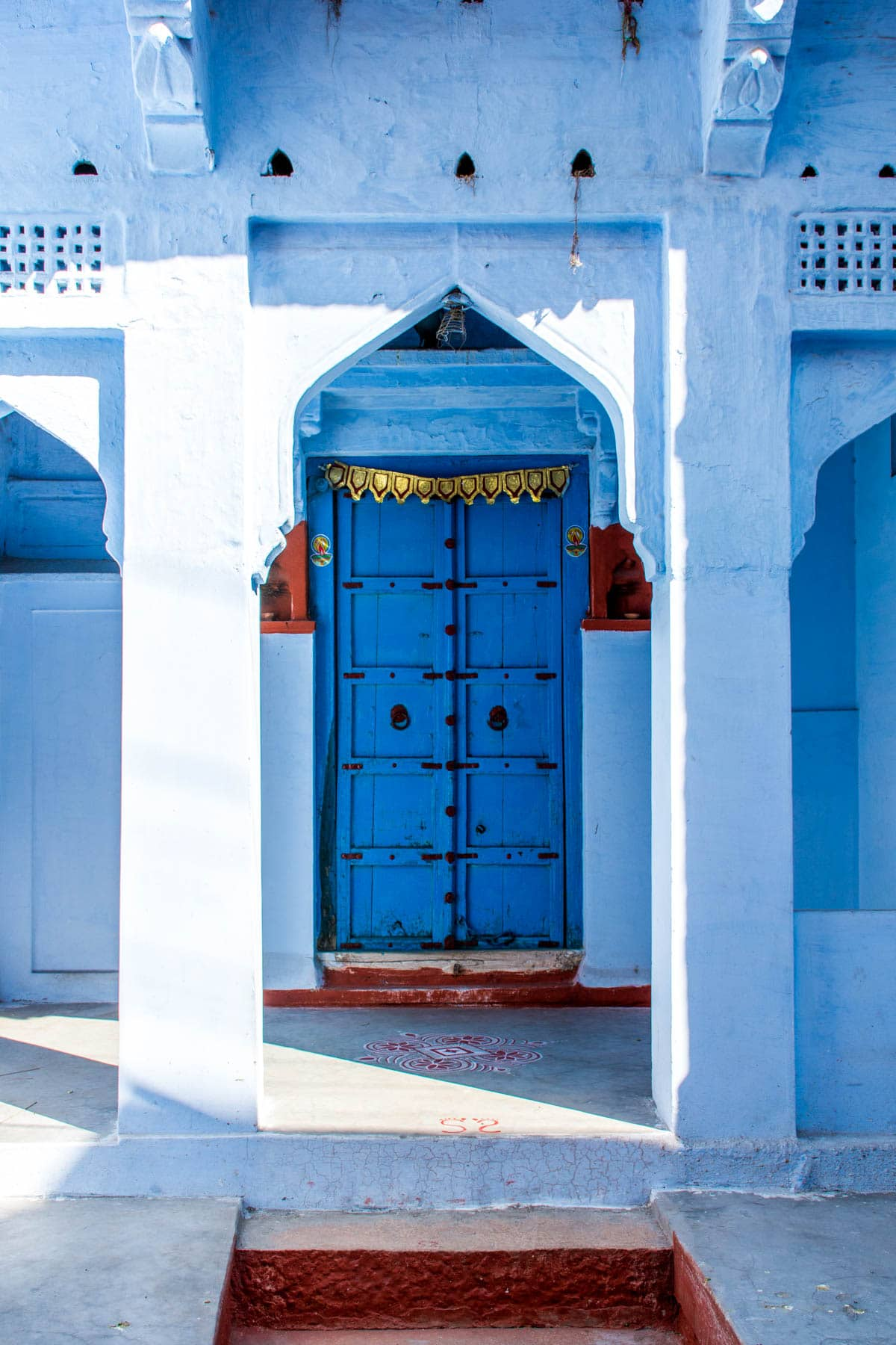 Photo essay about the streets and people of the Blue City of Jodhpur, Rajasthan, India - A blue door - Lost With Purpose