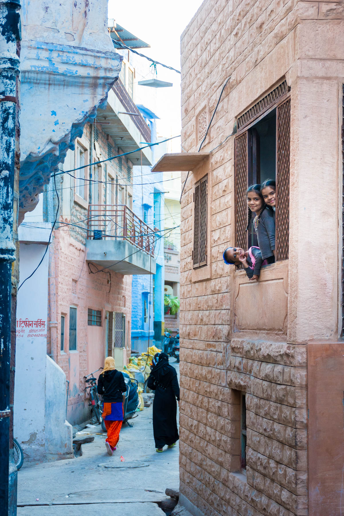 Photo essay about the streets and people of the Blue City of Jodhpur, Rajasthan, India - Playful girls in Jodhpur, India - Lost With Purpose