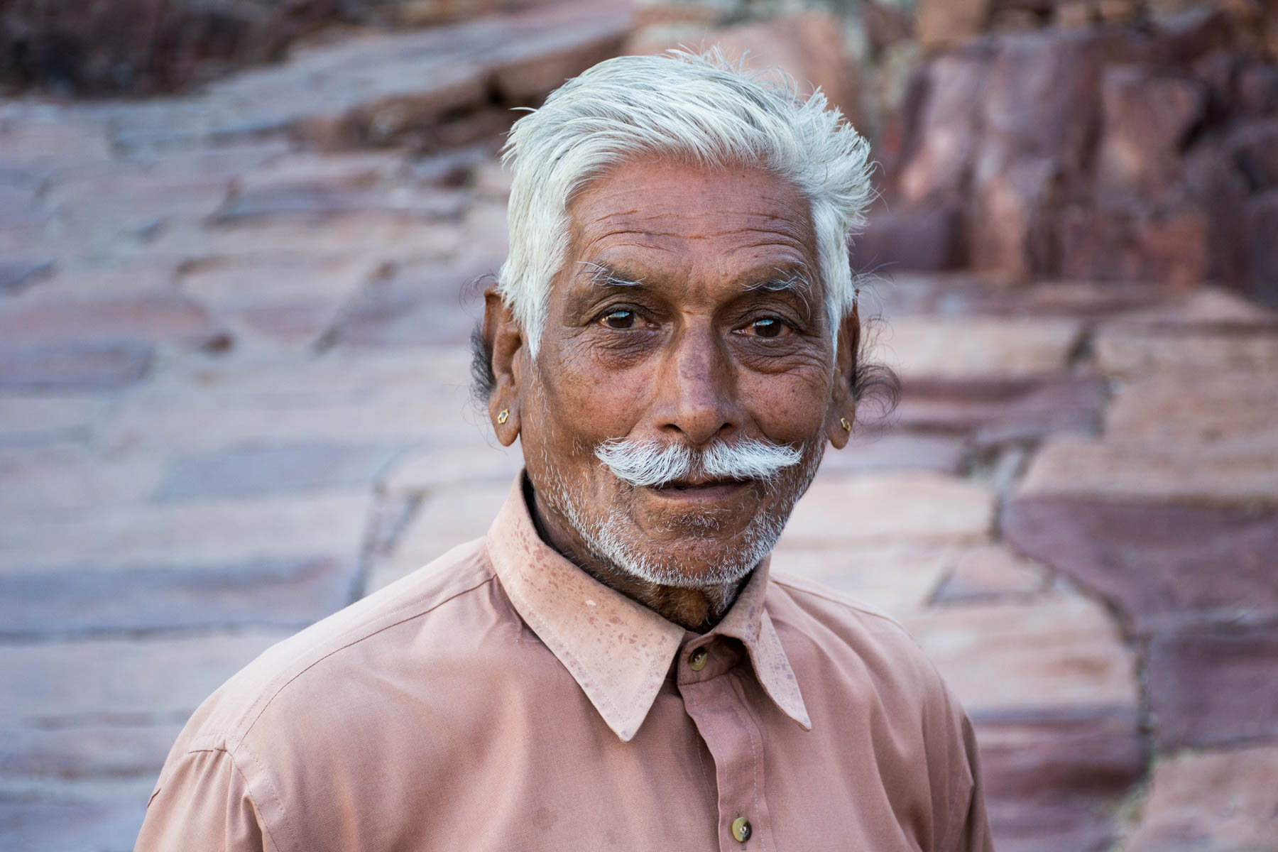Photo essay about the streets and people of the Blue City of Jodhpur, Rajasthan, India - Mustached man in Jodhpur - Lost With Purpose