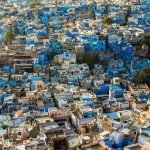 Photo essay about the streets and people of the Blue City of Jodhpur, Rajasthan, India - Overhead view of blue houses in Jodhpur, India - Lost With Purpose