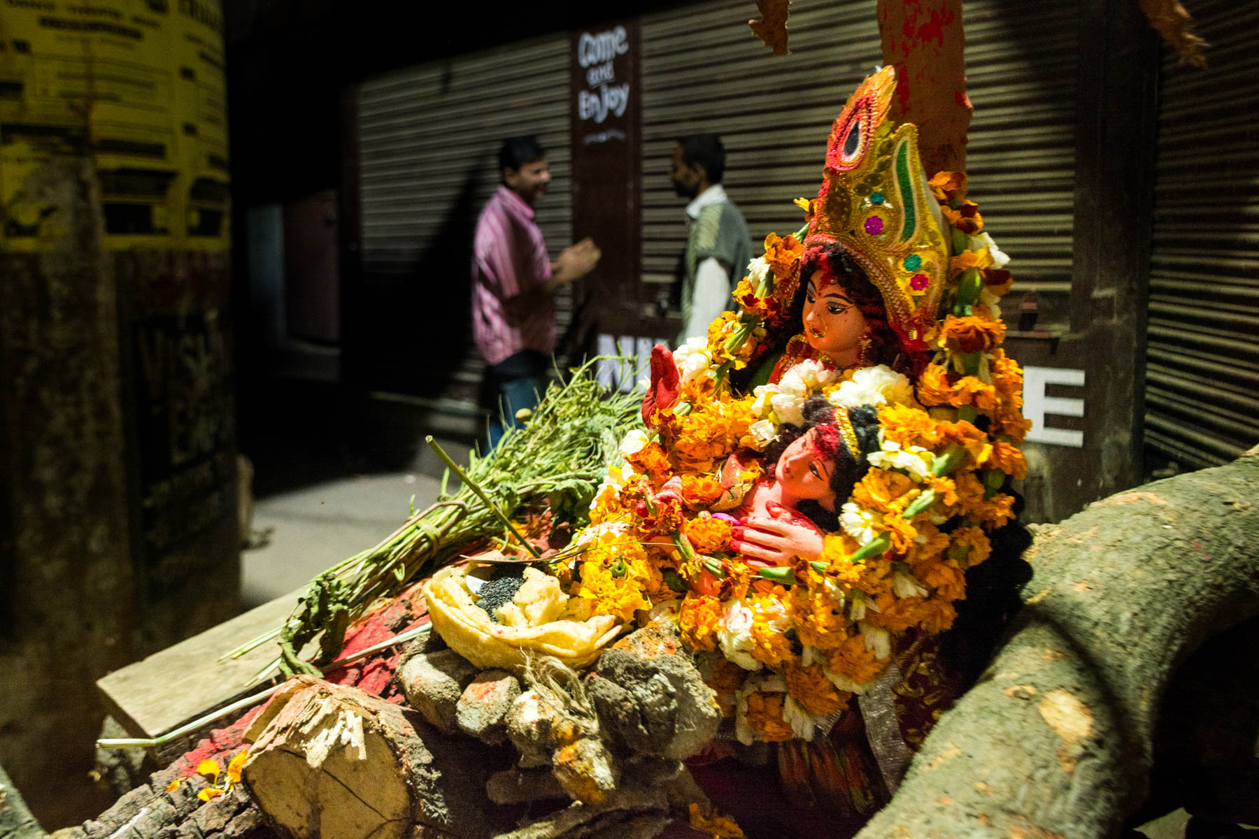 What you need know about playing Holi in Varanasi, India - An effigy of Holika on a wood pile - Lost With Purpose