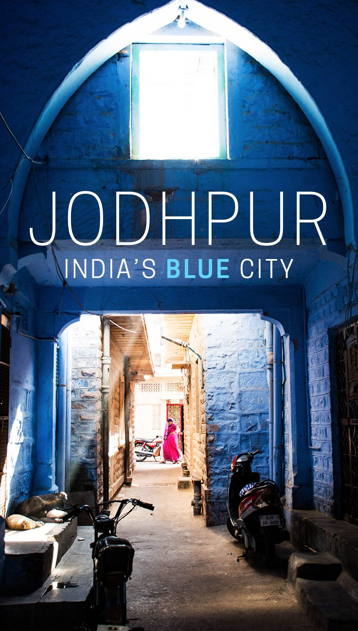 """Jodphur, Rajasthan is widely known as India's blue city. Its streets are filled with """"Brahmin blue"""" houses, and despite its place on India's Rajasthan tourist trail, the people were incredibly warm and open to visitors. Read on for more stunning photos of the vibrant city."""