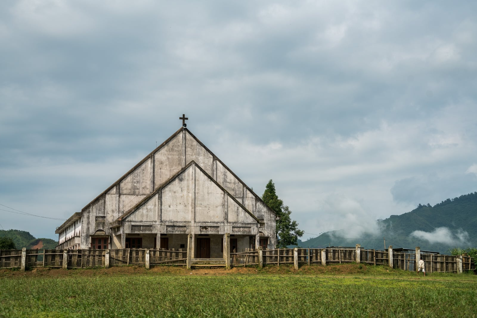 Opium and Jesus and headhunting in Longwa Village, Nagaland, India - Church exterior in Longwa - Lost With Purpose