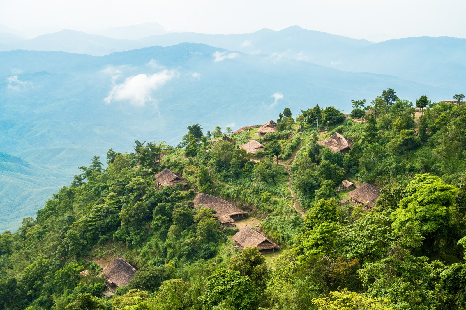 Small village on the border with Burma (Myanmar)