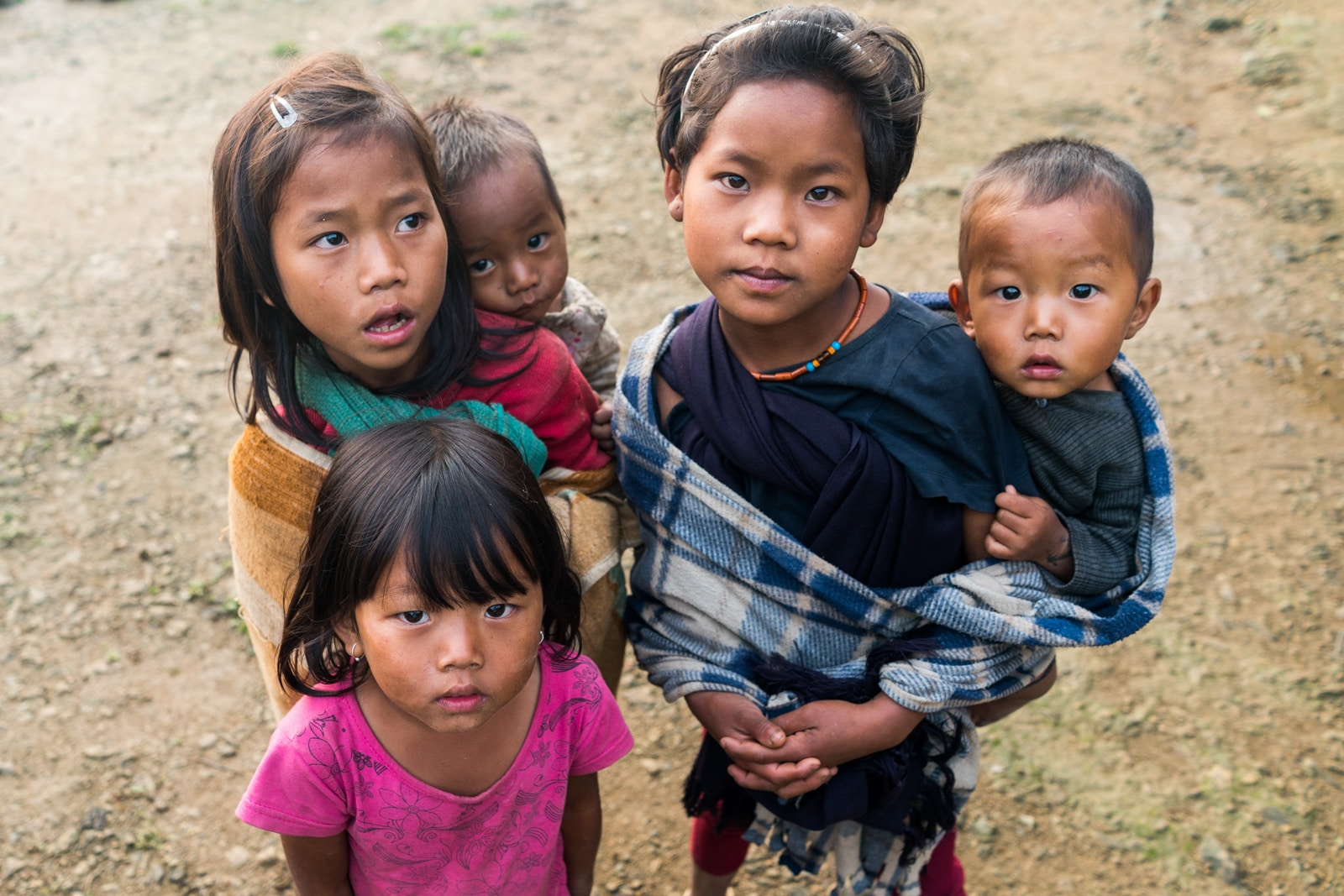 Opium and Jesus and headhunting in Longwa Village, Nagaland, India - Children in Longwa - Lost With Purpose