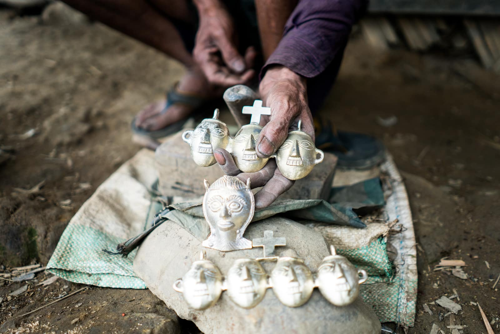 Opium and Jesus and headhunting in Longwa Village, Nagaland, India - Headhunter jewelry meets Christianity - Lost With Purpose