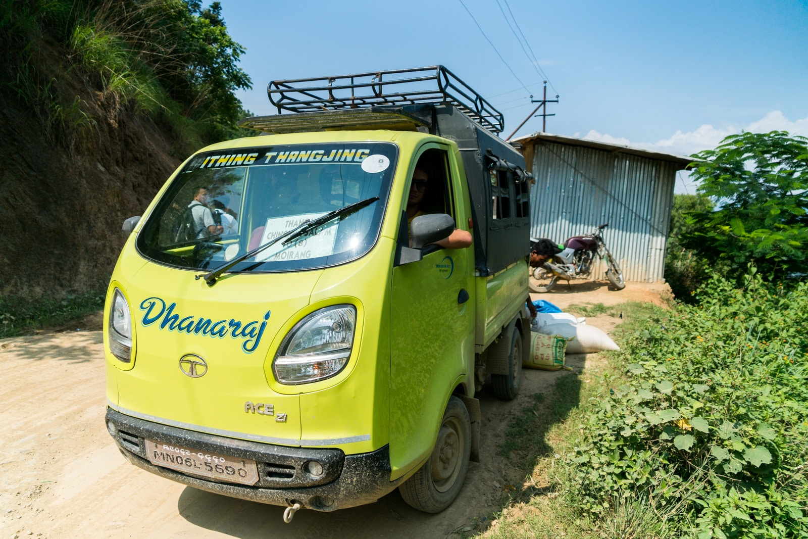 How to get from Imphal to Loktak Lake in Manipur, India - A green shared taxi running from Moirang to Thanga - Lost With Purpose travel blog