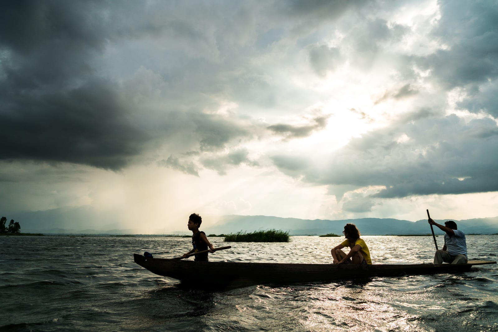 How to get from Imphal to Loktak Lake in Manipur, India - Boat ride at sunset on Loktak Lake - Lost With Purpose travel blog