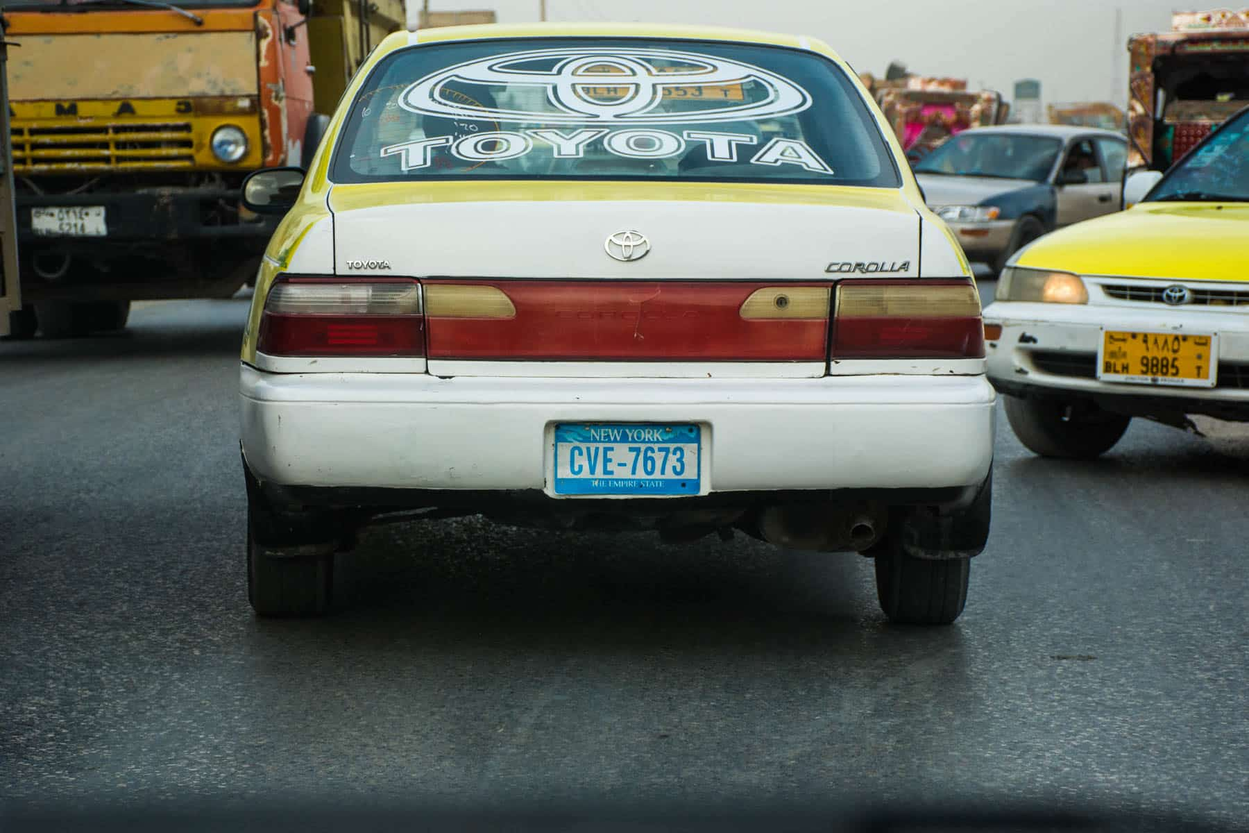 Photos of Mazar-i-Sharif, Afghanistan - A New York taxi license plate in Mazar - Lost With Purpose