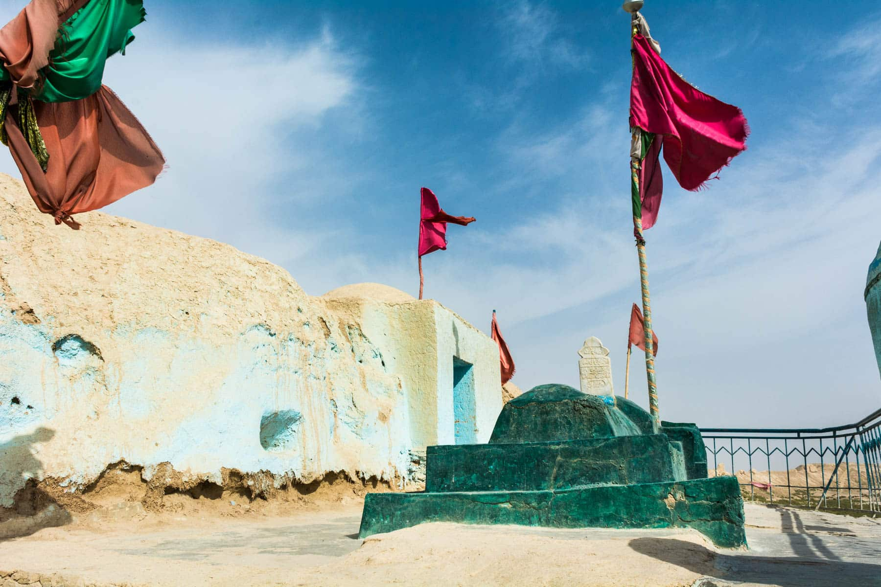Photos of Balkh, Afghanistan - A small green Sufi shrine amongst the walls of Old Balkh - Lost With Purpose