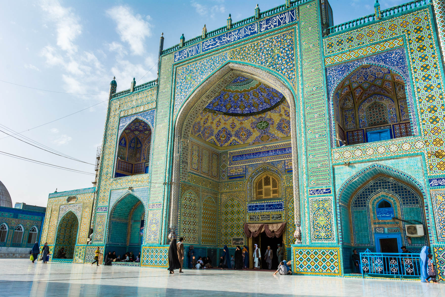 Photos of Mazar-i-Sharif, Afghanistan - Entrance to the Blue Mosque at sunset - Lost With Purpose