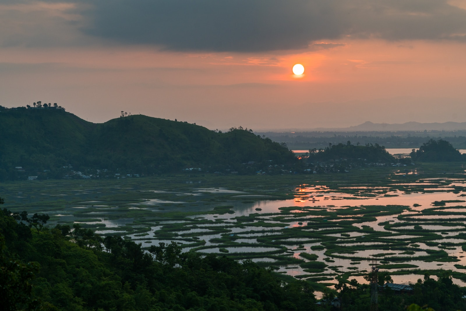Why you need to visit Loktak Lake, Manipur, India - Sunrise over Loktak Lake - Lost With Purpose