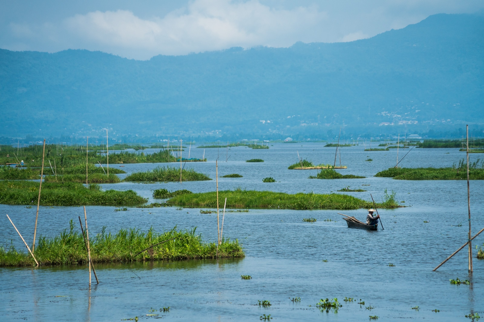 Why you need to visit Loktak Lake, Manipur, Northeast India - A fisherman floating on the lake - Lost With Purpose