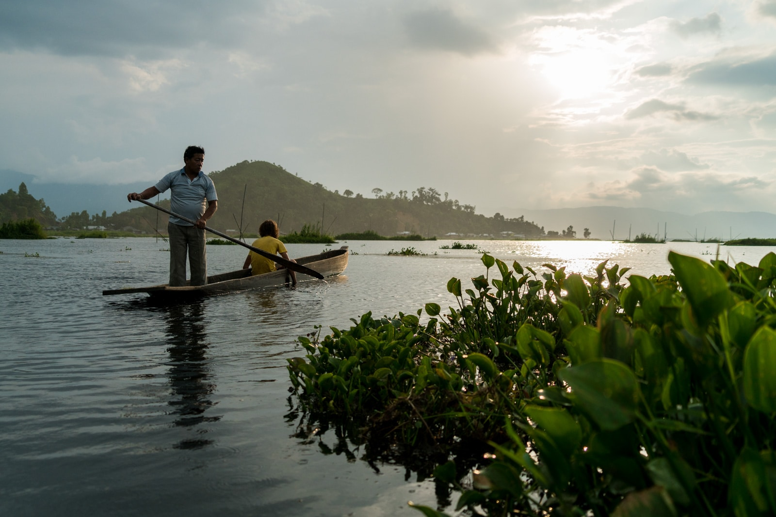 Why you need to visit Loktak Lake, Manipur, Northeast India - Rowing back to shore - Lost With Purpose