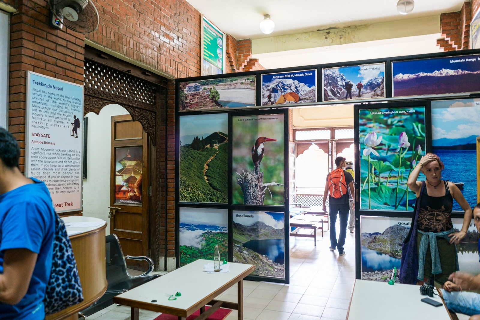 Interior of the TIMS card office in Kathmandu
