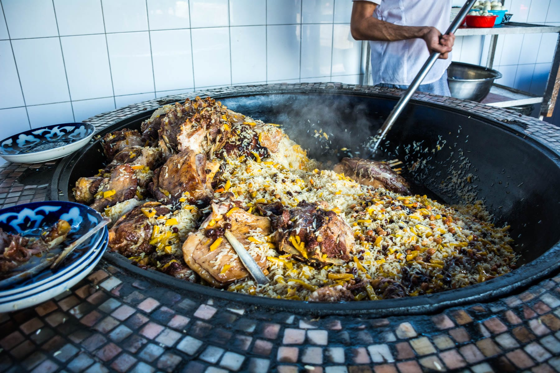 Things you need to know before traveling to Uzbekistan - Plov cooking at the Central Asian Plov Center in Tashkent - Lost With Purpose