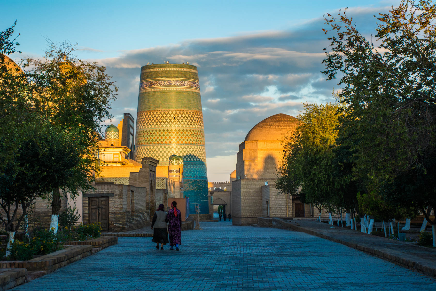 Sunrise in the old city of Khiva